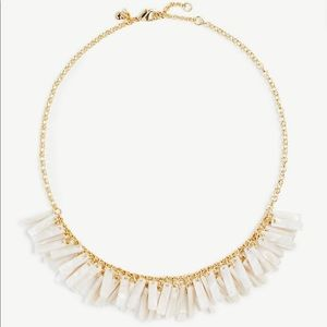 Ann Taylor marbleized tassel statement necklace